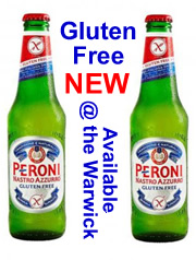 Gluten Free Peroni Beer Available at the Warwick Worthing